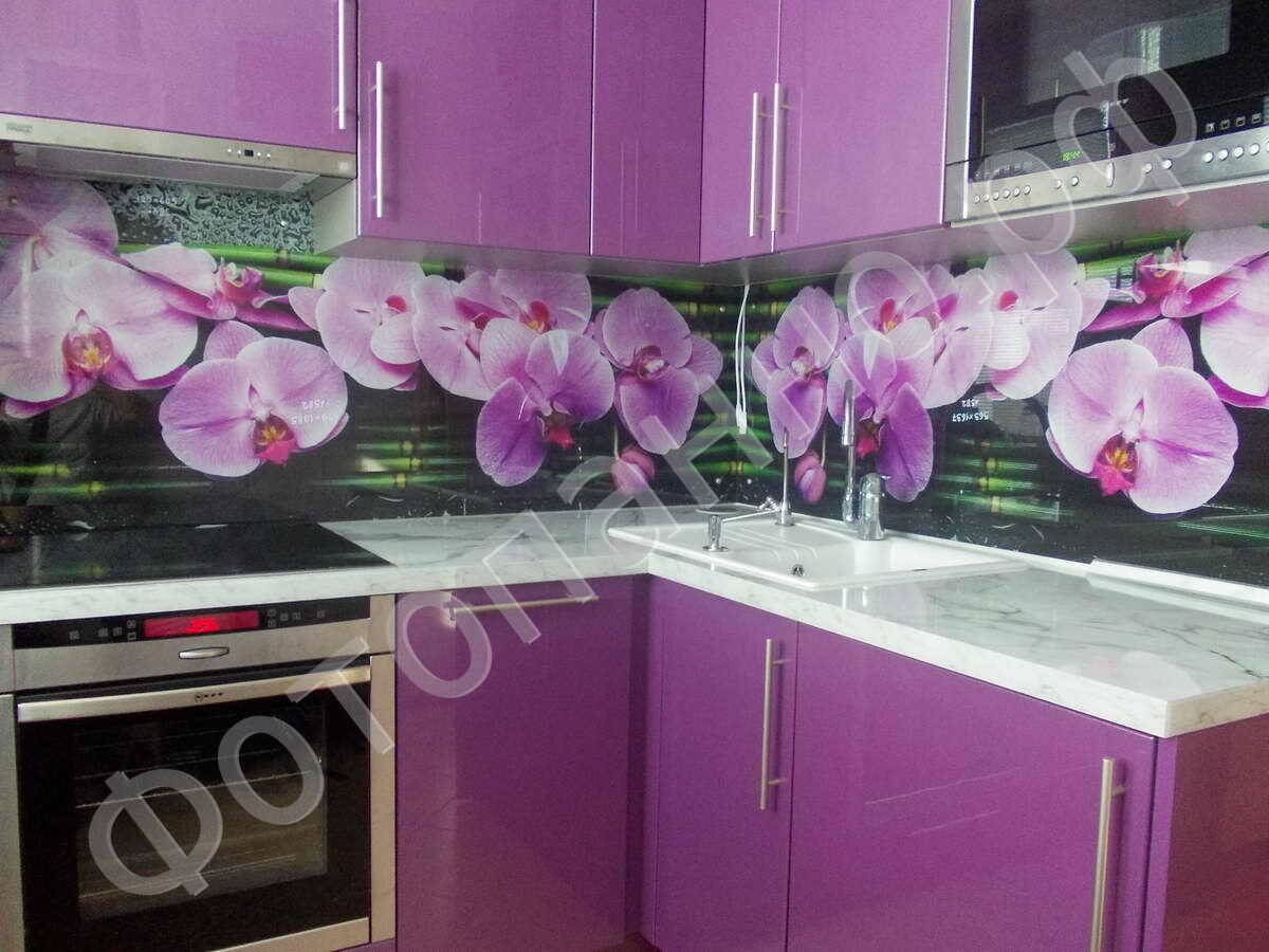 Цветы изображения скинали для кухни Фартук. RU 10