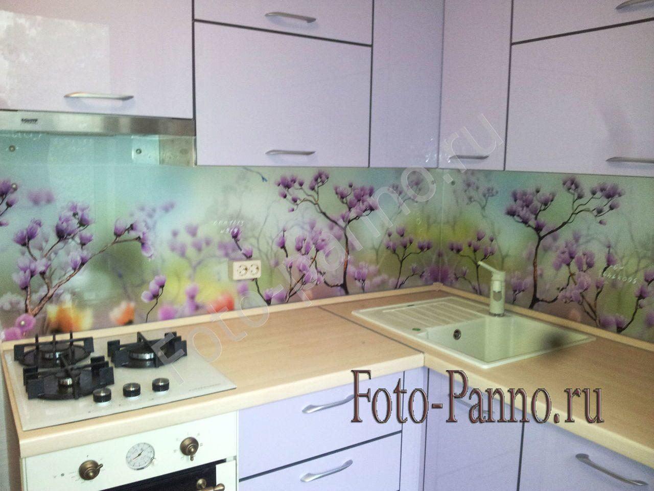 Цветы изображения скинали для кухни Фартук. RU 29